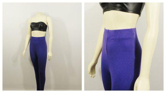 Vintage Pants 80s Purple Stir Ups Casual by 2sweet4wordsVintage, $49.99