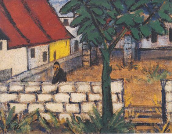 1916 'Farmyard In France' by Otto Müeller (1874~1930) | BRUT die Brücke (The Bridge) Movement