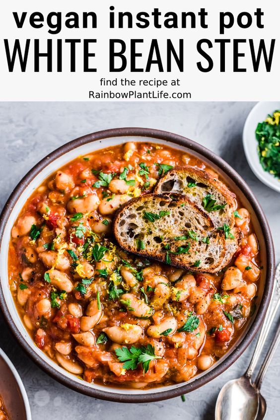 Instant Pot White Bean Stew (Vegan, GF)