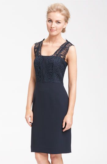 Navy + lace