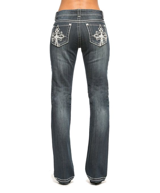 RED by Rose Royce Dirty Dark Natalie Bootcut Jeans by RED by Rose Royce #zulily #zulilyfinds