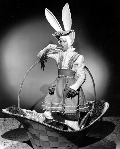 Doris Day in rabbit suit: