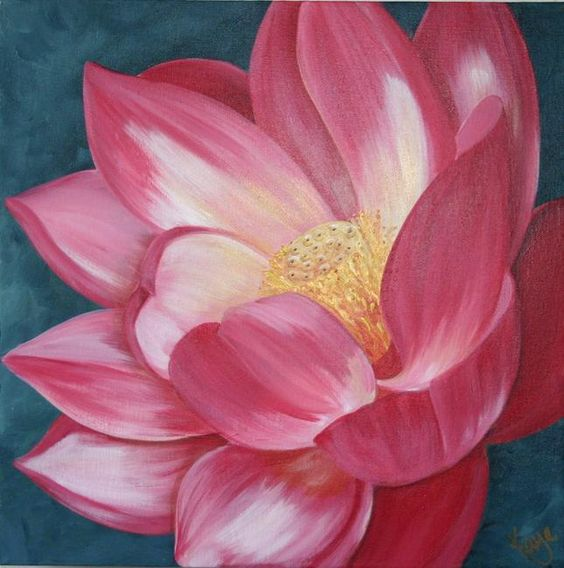 acrylic paintings of flowers | Acrylic Flower Painting…