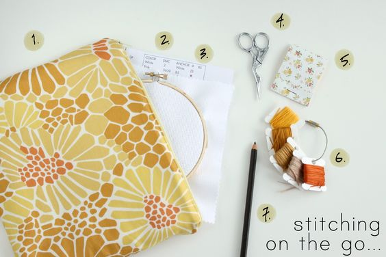 little lovelies: stitching on the go