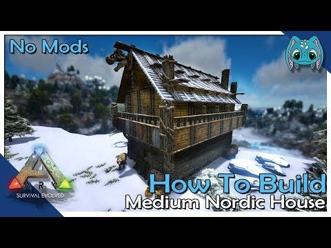 How To Build Medium Nordic House Ark Building W Fizz No Mods Youtube In 2020 Ark Survival Evolved Ark Survival Evolved Tips Ark Survival Evolved Bases