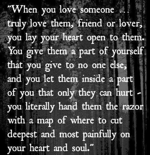 Love is brutal!