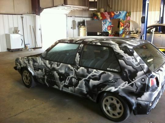 spray painted car my art pinterest cars sweet and. Black Bedroom Furniture Sets. Home Design Ideas