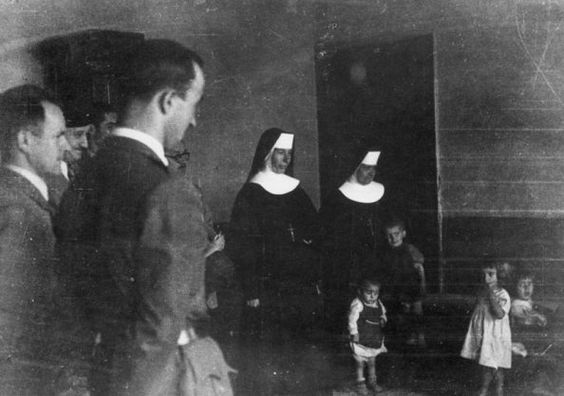 Roman Catholic Church has been directly involved in genocide against Serbs in Croatia. PIcture: Catholic nuns with imprisoned Serbian children (Museum of Genocide in Yugoslavia)
