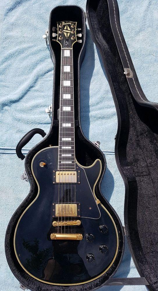 Burny Vintage Les Paul Black Early 80s Hardcase Not Gibson Vintage Les Paul Gibson Guitars Guitar