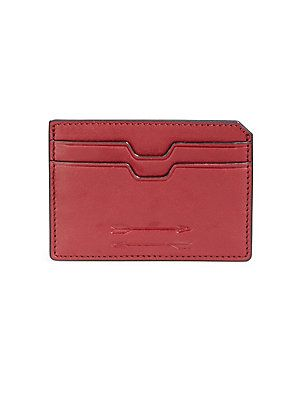 Uri Minkoff Leather Cardholder - Port Wine
