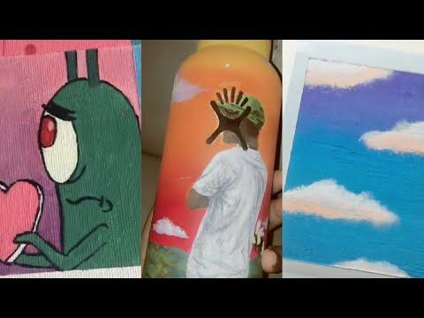 Tik Tok Painting Compilation 1 Youtube Painting Cute Paintings Painting Drawing