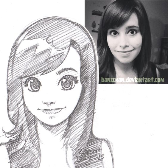 GoBoiano - 25 Awesome Anime Portraits That Transform ... Amazing Drawings Of Cartoon People