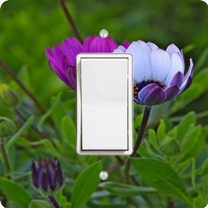 "Rikki KnightTM Purple White Crocus Flowers Single Rocker Light Switch Plate Cover by Rikki Knight. $14.99. The Purple White Crocus Flowers single toggle light switch cover is made of commercial vibrant quality masonite Hardboard that is cut into 5"" Square with 1'8"" thick material. The Beautiful Art Photo Reproduction is printed directly into the switch plate and not decoupaged which make these Light Switch Plates suitable for use in any room in the office, home, etc. ..."