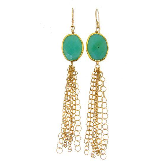 Tassel Earrings - Chalcedony - #lemel Favs