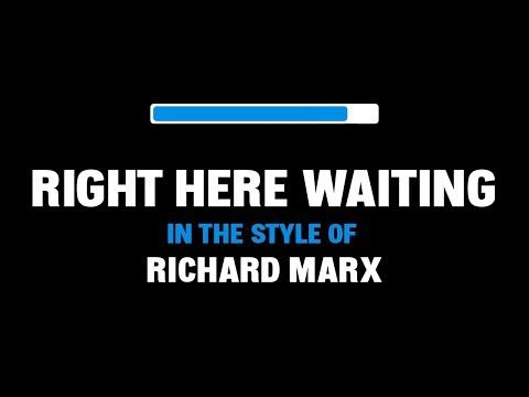 Richard Marx Right Here Waiting Karaoke Youtube Richard Marx