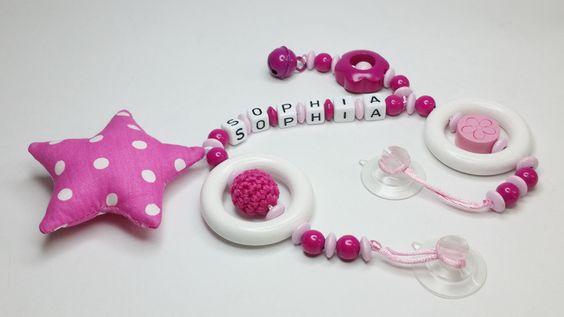 Autoscheibe Kette Girlande Baby Name AS101 von myduttel auf DaWanda.com