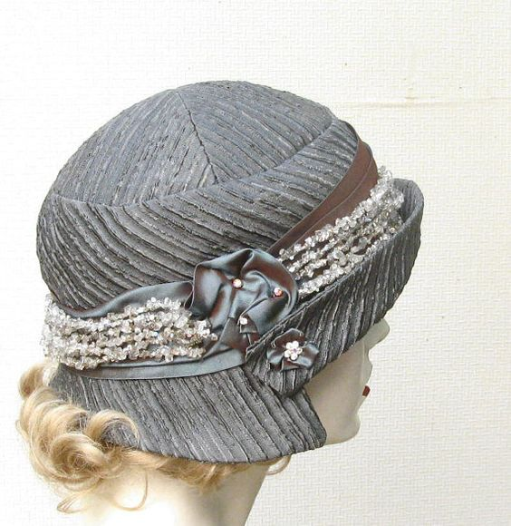 Women's Romantic Gatsby Cloche Hat 1920's Style Hat by BuyGail, $145.00: