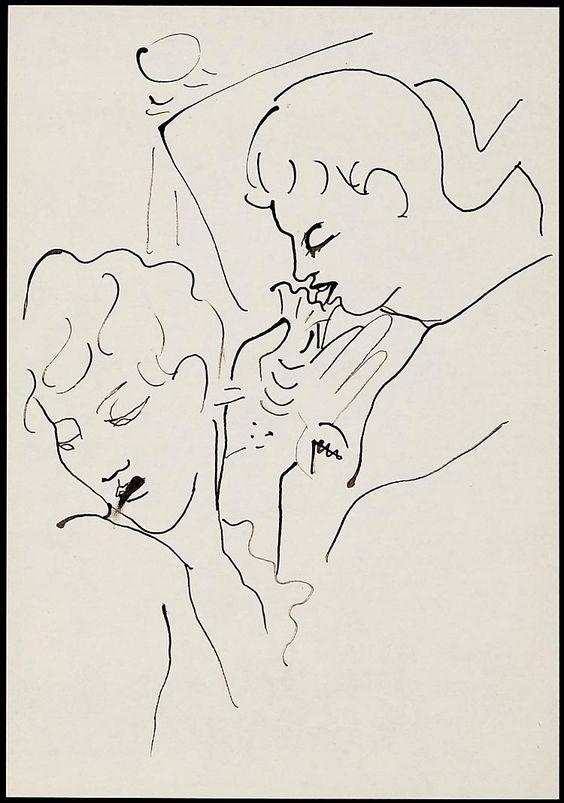 Soixante dessins pour 'Les enfants terribles'  1935 Jean Cocteau
