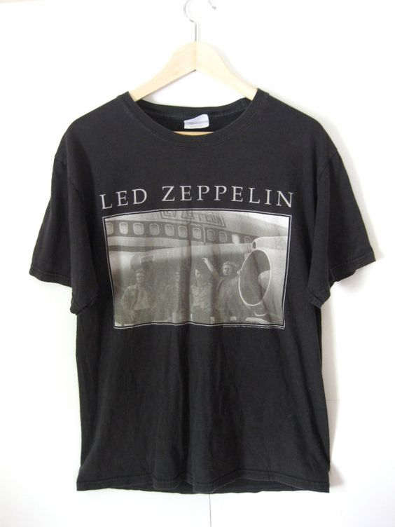 led zeppelin band t shirt my pretend closet pinterest. Black Bedroom Furniture Sets. Home Design Ideas
