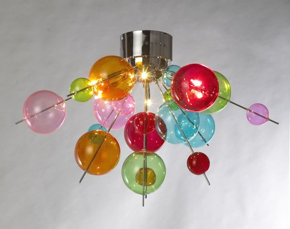 Atomic Flush Rainbow Retro Ceiling Light