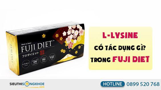 Phân tích L-Lysine thành phần viên uống giảm cân Fuji Diet