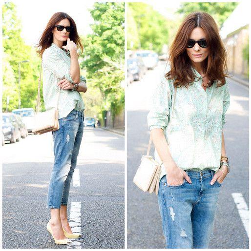 Skinny Boyfriend Jeans, Cos Shirt, Zara Shoes, Celine Bag