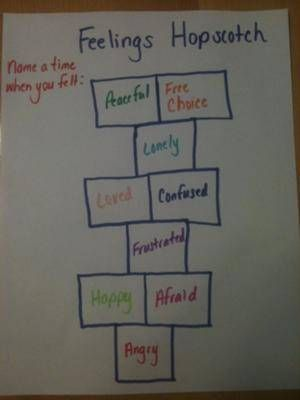 Play Therapy Game - Feelings Hopscotch