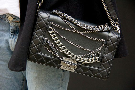 Chanel Boy Bag Chains Classic and Rock @ the same time