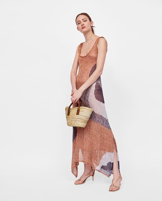 Image 1 de MINI CABAS AVEC POIGNÉES EN CUIR de Zara