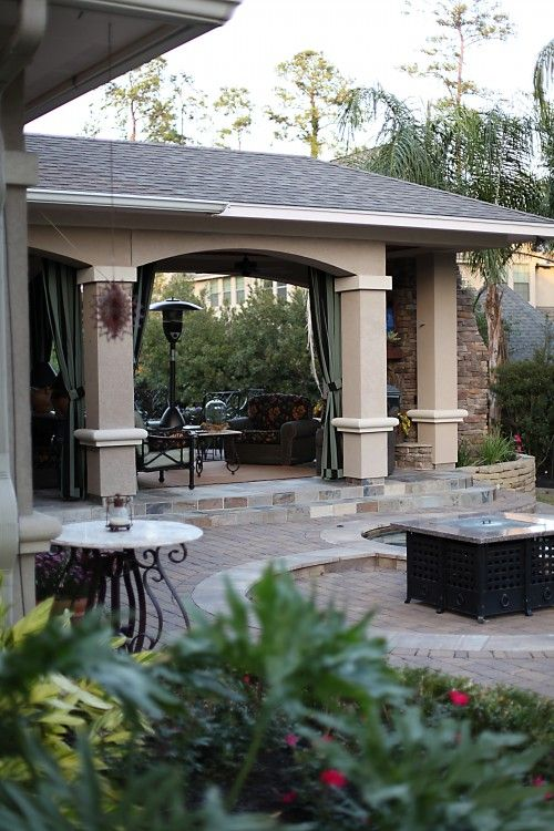 Covered patio porch ideas pinterest stucco exterior for Stucco patio cover designs