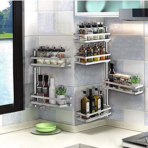 Ylftc 304 Stainless Steel Kitchen Shelves Free Standing Kitchen Corner Shelf Kitchen Kitchen Cabinet Shelves Kitchen Shelves Stainless Steel Kitchen Shelves