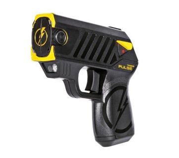 Taser Pulse with laser, LED, 2 live cartridges, The TASER Pulse. It is a high-tech, subcompact weapon with an intuitive concealed carry design that packs the same knock-down punch used by law enforcement around the world. With the TASER Pulse, you can reach an attacker from up to 15 feet away, immobilize them for 30 seconds giving you time to make a Safe Escape. - 39061  What's in the Package • TASER Pulse • Replaceable lithium battery • 2 live cartridges • Conductive target • Protective sof...