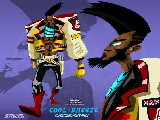 CHRISCRAZYHOUSE   Cool Breeze character design