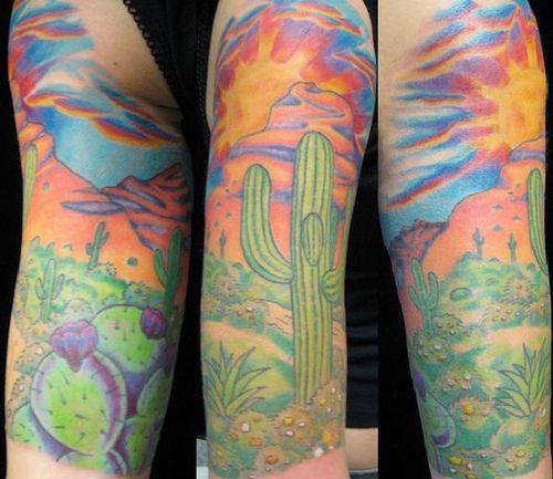 Desert tattoo trouble gold for Arizona desert tattoo