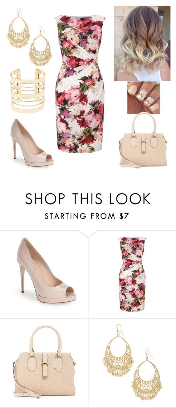 """Working in flowers"" by paoladouka ❤ liked on Polyvore featuring Fendi, Phase Eight, Calvin Klein, Carole and Charlotte Russe"
