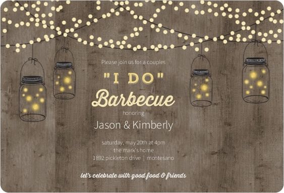 Wedding Gift Ideas For Outdoorsy Couple : ... shower ideas wedding showers invitations bridal party lights bbq ideas