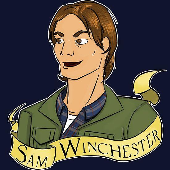 Sam Winchester of Supernatual - Red Bubble