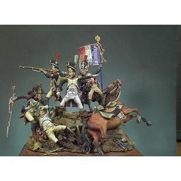 Figurine Waterloo,1815, Le Dernier Carré - Andrea miniatures,54mm.