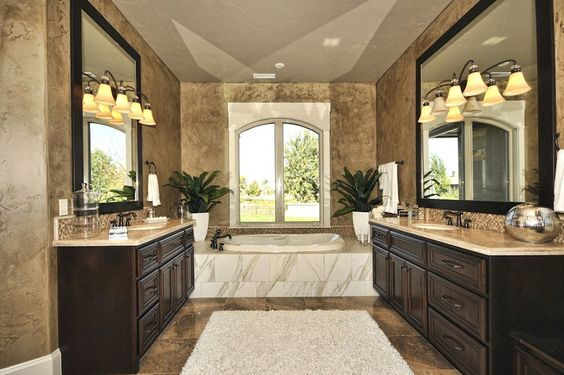 Dualing Master Bathroom Mirrors