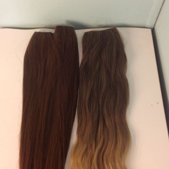 3 Hair Extensions 2 of the hair extensions are the same color brown and the other is a light brown ombré. Have only been used a couple times. All 3 are synthetic. They are $9.00ea and $15.00 for two Accessories Hair Accessories