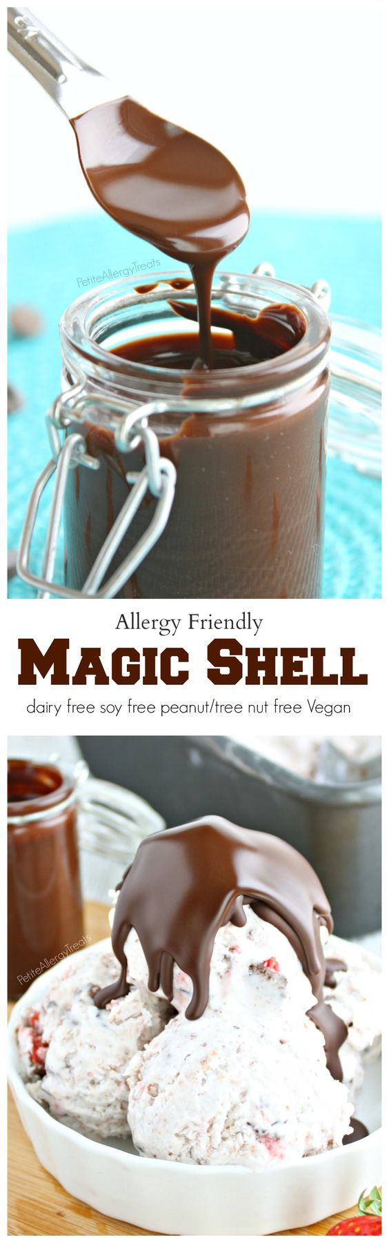 Homemade Magic Shell (Vegan)- 2 ingredients make this chocolate a ...