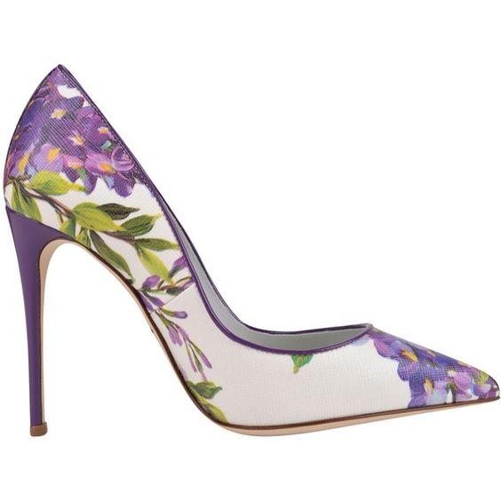 Purple Floral Heels