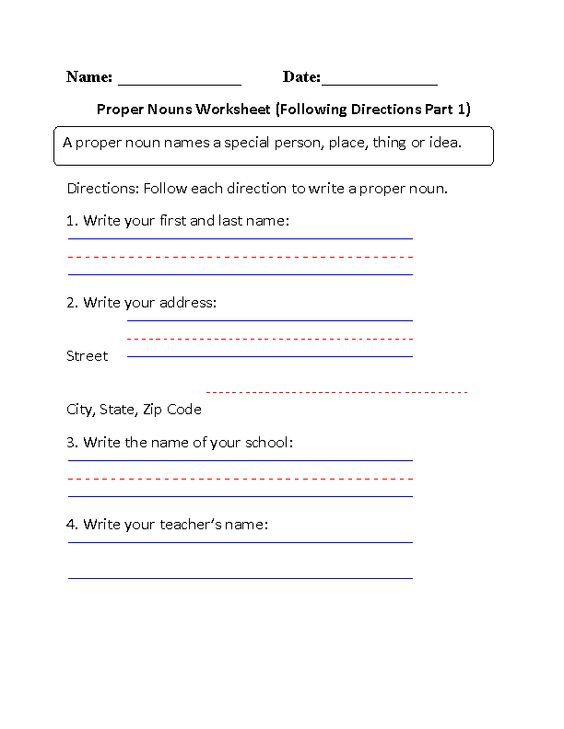 Noun Verb Adjective Worksheets Word Following Directions Proper Nouns Worksheet  Places To Visit  Worksheet Ordinal Numbers with Common Core Math Worksheets Grade 5 Excel Following Directions Proper Nouns Worksheet  Places To Visit  Pinterest  Proper  Nouns Nouns Worksheet And Worksheets Vocabulary Worksheet Creator Word