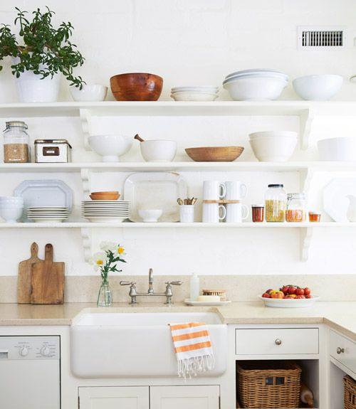 Kitchen inspiration 7 ways to warm up white open for Warm kitchen ideas
