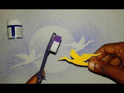 Tooth Brush Spray Painting Step By Step Simple Ideas Youtube