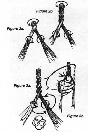 Hacer una cuerda con la mano.