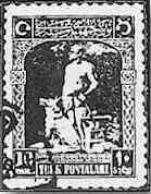 Mustafa Kemal ve Bozkurt basımlı pul