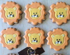 Biscoitos Decorados - Leão