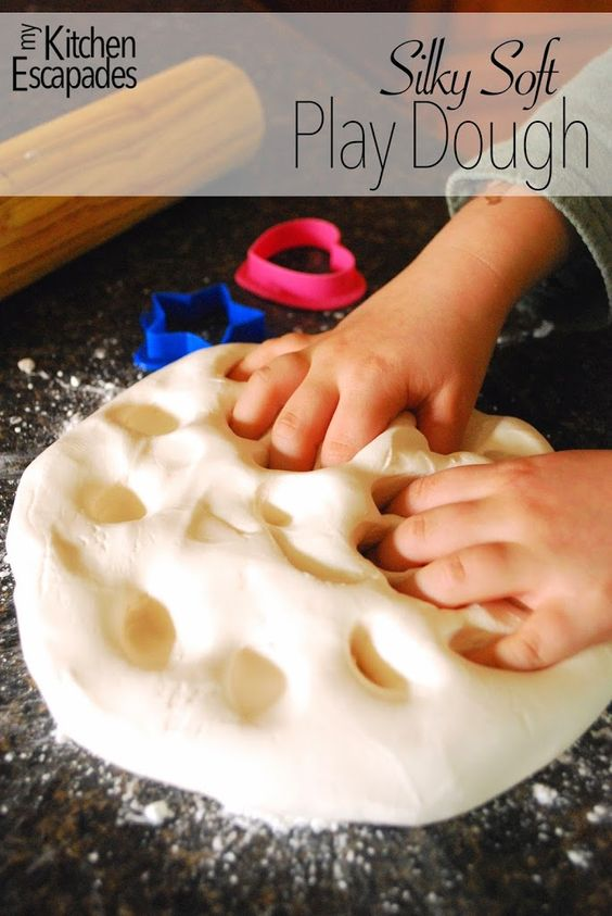 Silky Soft Playdough made from two ingredients!  Perfect activity for the kids this summer.