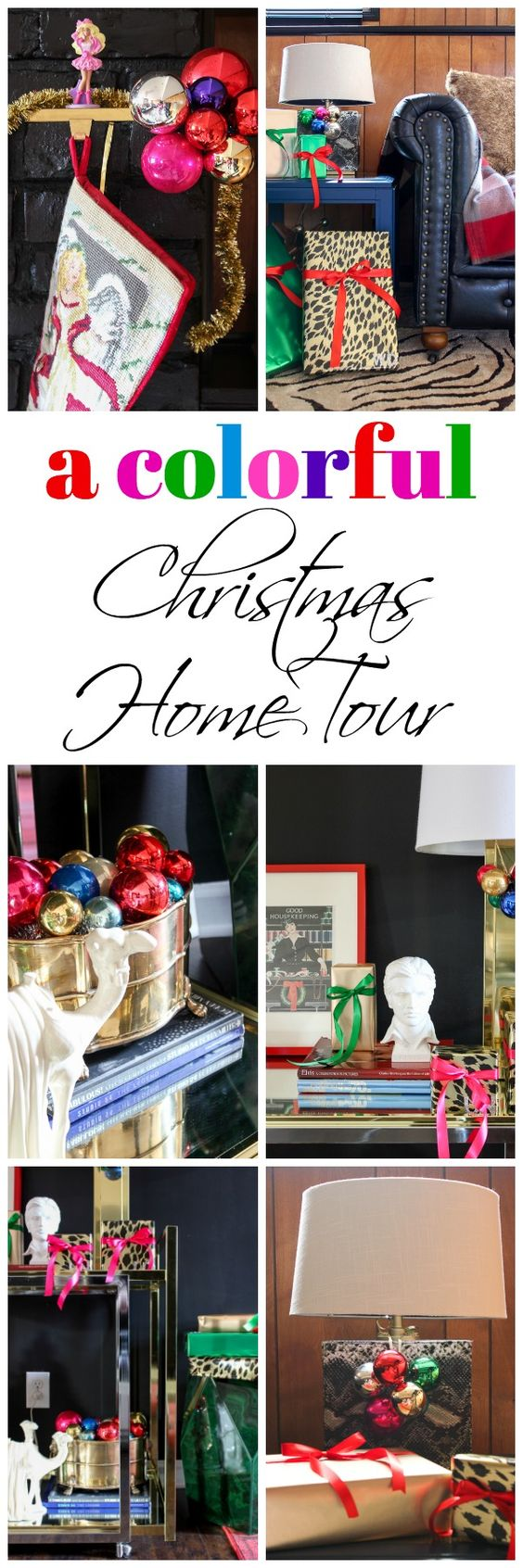 A Colorful Christmas Home Tour - if you're all about color and meaningful holiday decorating, then don't miss this unique home tour!